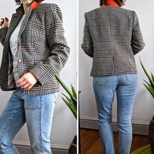 J. Crew Wool Houndstooth Schoolboy Blazer Size 10